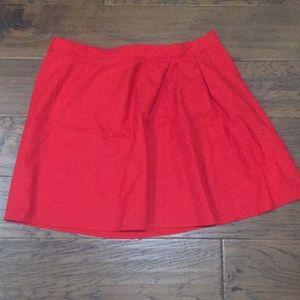 J. Crew Red Wool Blend Skirt Size 4
